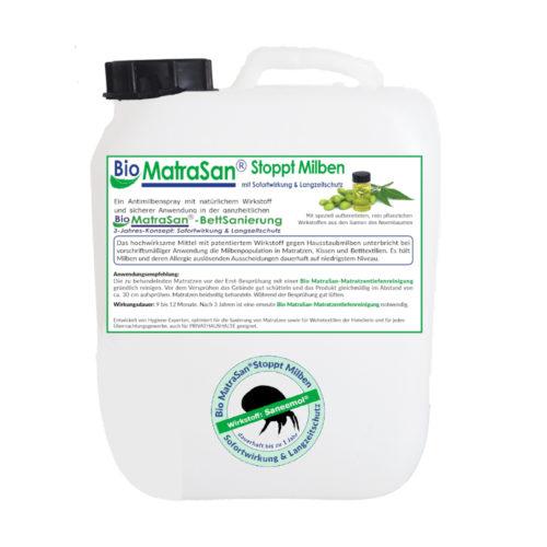 Bio Matrasan stoppt milben 5 liter kanister